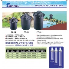 Biological UV-C Filters
