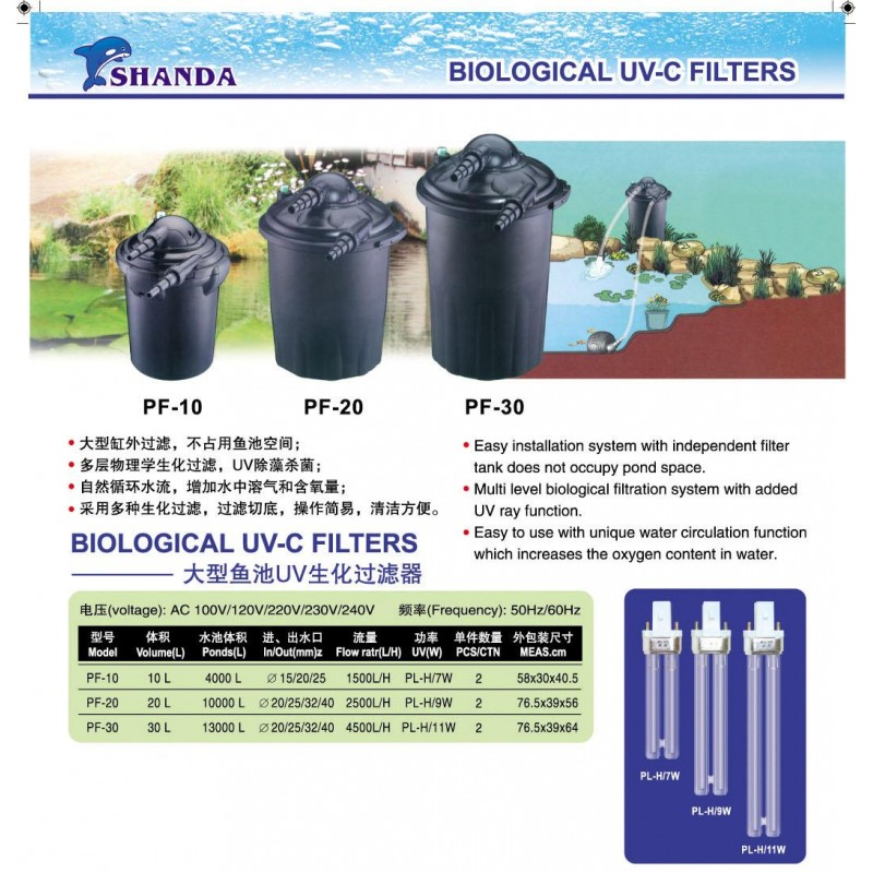 Biological uv c filters for Biological pond filter