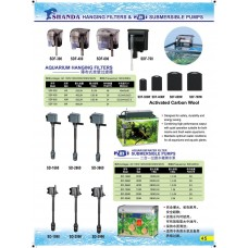 Hanging Filters & 2 in 1 Submersible Pumps
