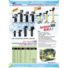 Aquarium Internal Liquid Filters (LED)
